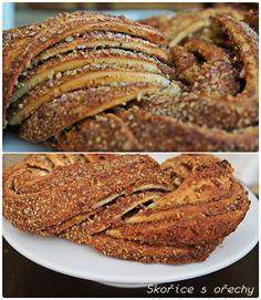 Estonský kringel Baking Recipes, Cake Recipes, Czech Recipes, Shortbread, Ham, Banana Bread, French Toast, Cheesecake, Food And Drink