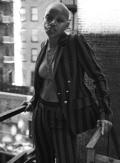 Photography: David Roemer at Atelier Management. Makeup: Vicky Steckel at Bryan Bantry. Model: Slick Woods at The Lions NY. Dark Skin Models, Black Models, Black Girl Magic, Black Girls, Ebony Beauty, Fashion Photography, Glamour Photography, Lifestyle Photography, Editorial Photography