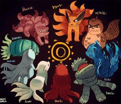 The Tailed Beasts. #naruto