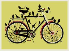 Officine 99 - bici d'epoca, vintage e old style riconvertite in fixed e single speed: Bike and birds.