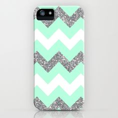 amazon ipod 5 cases for girls | seafoam glitter chevron iPhone & iPod Case