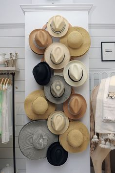 Straw hat wall