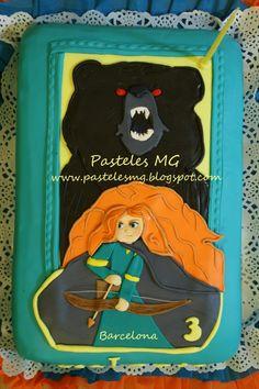 Tarta Personalizada Princesa Mérida - Brave.  by Pasteles MG Barcelona.