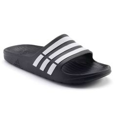 watch bbed9 afb7f Adidas Men DURAMO Slide Slippers Sandals Shoes Black G15890 (size 8,9,10