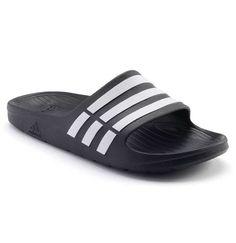 6723316239b9 Adidas Men DURAMO Slide Slippers Sandals Shoes Black G15890 (size 8