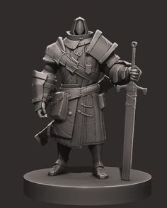 Game Character Design, 3d Character, Character Concept, Concept Art, Character Modeling, Character Costumes, Fantasy Warrior, Fantasy Art, Zbrush Models