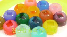 푸딩 요리 소꿉 놀이 식완 장난감!!컬러 초콜릿 틀 젤리 푸딩 만들기!How to Make 'Color Agar Pudding' ...