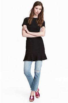 Żakardowa sukienka - Czarny - ONA   H&M PL