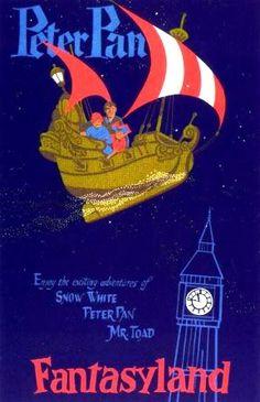 Vintage Disneyland Ride Poster