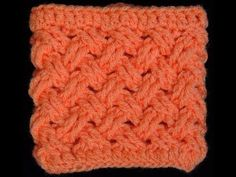 Crochet tutorial that teaches you how to the Interweave Cable crochet stitch. This is great for spring if you just change the size of the stitch from double . Crochet Bolero, Crochet Geek, Crochet Motifs, Crochet Stitches Patterns, Tunisian Crochet, Knitting Stitches, Free Crochet, Stitch Patterns, Knitting Patterns