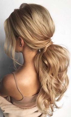 Low Ponytail Hairstyles, Prom Hairstyles For Long Hair, Formal Hairstyles, Hairstyles Haircuts, Asian Hairstyles, Redhead Hairstyles, Low Ponytails, Office Hairstyles, Stylish Hairstyles