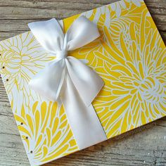 Wedding Guest Book Mums in Canary Yellow LARGE by EmersonBindery, $40.00
