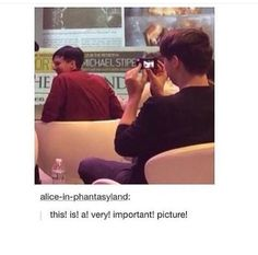 But do you realize someone took a picture of dan while he was taking a picture of phil PHOTOCEPTION (@xuxa)