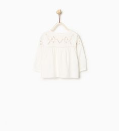 Embroidered lace loose blouse-SHIRTS-Baby girl-Baby | 3 months - 3 years-KIDS | ZARA United States