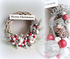 Christmas Mood, Christmas Makes, All Things Christmas, Christmas Crafts, Merry Christmas, Pine Cone Decorations, Christmas Decorations, Xmas Wreaths, Diy Wreath