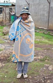 You can't go far in Lesotho without seeing people wrapped in colourful Basotho blankets. The Secret, Blankets, Cover Up, Menswear, Textiles, How To Wear, Color, Dresses, Fashion