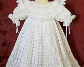 White Christening / Blessing Gown and Slip -  Baby Dress - READY to SHIP -  13113-G