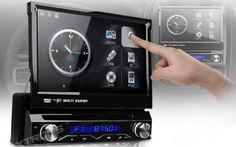 """Auto-rádio de 7"""" HD destacável, DVD e GPS *Envio grátis"""