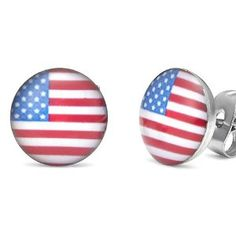 Rockin' USA American Flag Patriot Stainless Steel Stud Earrings for Men (Jewelry)  http://www.picter.org/?p=B007P2CGZI