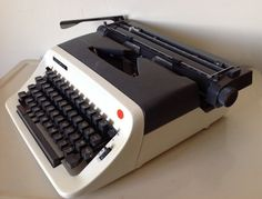 Vintage Olympia International Manual by TresconyAntiques on Etsy, $55.00 Retro Typewriter, Renaissance Men, Olympia, Are You The One, Manual, Japan, Cream, Model, How To Make