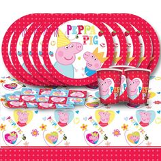 Peppa Pig Cartoon Children's Birthday Complete Party Tableware Pack For 16 https://twitter.com/BandPUSA