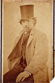 Rodin, Auguste (1840-1917) with a top hat  c. 1864 by Charles Aubrey by RasMarley, via Flickr