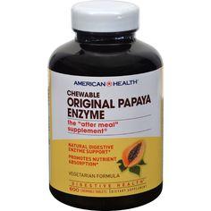 American Health Original Papaya Enzyme Chewable - 600 Tablets