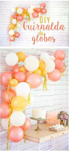 Pumpkin Birthday Parties, Elegant Birthday Party, Birthday Diy, 1st Birthday Girls, Happy Birthday, Fiesta Decorations, Diy Birthday Decorations, Balloon Decorations, Shower Party