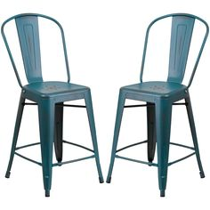 New Teal Counter Height Stools