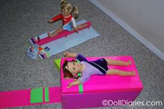 How to make a gymnastics vault for McKenna    This is super epic! Finally! A way she can do vault!