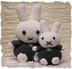Bunny Crafts, Diy Crafts, Miffy, Chrochet, Crochet Toys, Hello Kitty, Crochet Patterns, Handmade Items, Crafty