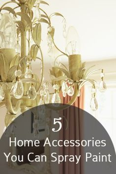 5 Home Accessories you can spray paint