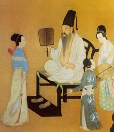 Gu Hong-Zhong - Night Party (Tang Dynasty 618 - 907)