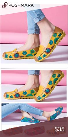 Fashion shoes Unique Design-Floral Element, Remote Control Shaped Outsole Round toe part and Non-slip outsole, you can enjoy your walk all the time  Item Specifics: Upper Material: PU Lining Material: PU Outsole Material: Rubber Shoes Flats & Loafers