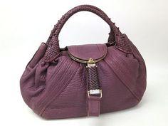 FENDI Spy Handbag Purple