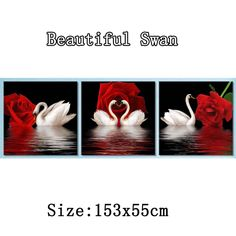 Find More Diamond Painting Cross Stitch Information about New Style DIY Diamond Painting Rose Swans cross stitch resin stone pasted painting Round Needlework painting 153x55cm,High Quality painting pallette,China paintings wall Suppliers, Cheap painting watercolor from Fashion&House on Aliexpress.com