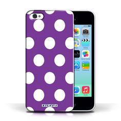 Designer Mobile Phone Case / Polka Dot Pattern Collection / Purple #case #cover #iphone #smartphone #polkadot