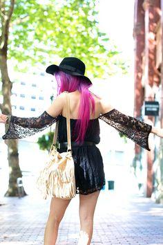 Black-lace-newdress-dress-black-wide-brim-free-people-hat