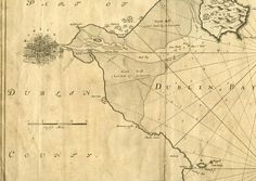 Map of Dublin Bay from Portmarnock to Dunleary Captain G. Collins, 1693