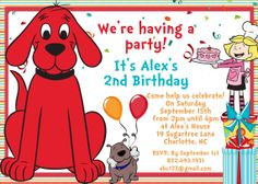 Dog Birthday, Third Birthday, 2nd Birthday Parties, Birthday Cards, Birthday Ideas, Make Your Own Invitations, Free Printable Invitations Templates, Birthday Card Design, Invite