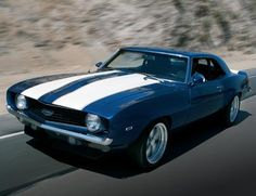 1969 Chevrolet Camaro - Racing stripes make them faster :)#Repin By:Pinterest++ for iPad#