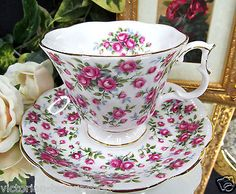 ROYAL ALBERT TEA CUP AND SAUCER CHINTZ NELL GWYNNE SERIES CHELSEA