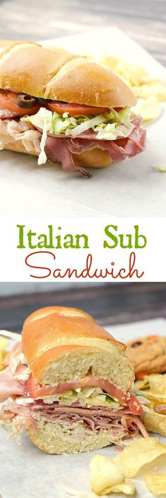 Skip the sandwich shop and make your own Italian Sub Sandwich at home, they taste better and cost much less | cookingwithcurls.com