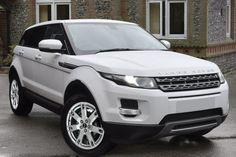 Range Rover Evoque 2.2 SD4 Pure TECH Fuji White (Solid) with Ebony Black Full Leather interior £29,990 http://www.duckworth.marketrasen.landrover.co.uk/Approved-Used-Vehicles/?utm_campaign=socialmedia&utm_medium=pinterest&utm_source=auvboard