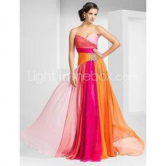 [AUD $ 217.62] Sheath/Column Sweetheart Floor-length Chiffon Evening/Prom Dress
