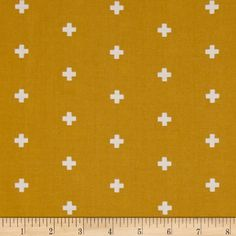 Joel Dewberry Wander Cross  Maize from @fabricdotcom  Designed by Joel Dewberry for Free Spirit Fabrics, this cotton print fabric is perfect for quilting, apparel and home decor accents. Colors include gold and white.