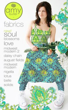 Fabric designer Amy Butler  good fabric collections