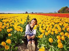 if life is a painting i wanna make it as colorful as thisss . . . #tulips #yellow #tulipfield #tbt #keukenhof #holland #amsterdam #pretty #dreambig #flyhigh #forevergrateful #lifeispretty #jesstravels  by jessicahakim_