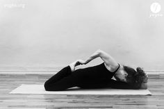 Badha Eka Pada Rajakapotasana in Hanumanasana – Bound forward bending king pigeon split
