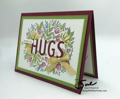 Sending You A Hug, Card Tags, Cards, Stampin Up, Catalog, Frame, Projects, Ideas, Picture Frame